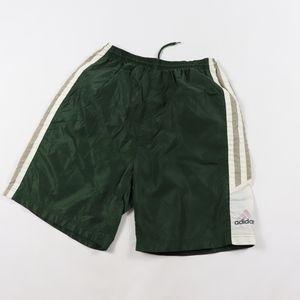 90s Adidas Mens Medium Nylon Hiking Shorts Green
